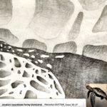 Aranżacja wnętrz studium rysunkowe formy bionicznej autor Weronika Bartnik klasa 3b