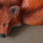 Praca wykonana nazajęciach zesnycerstwa - zwierzę-lis