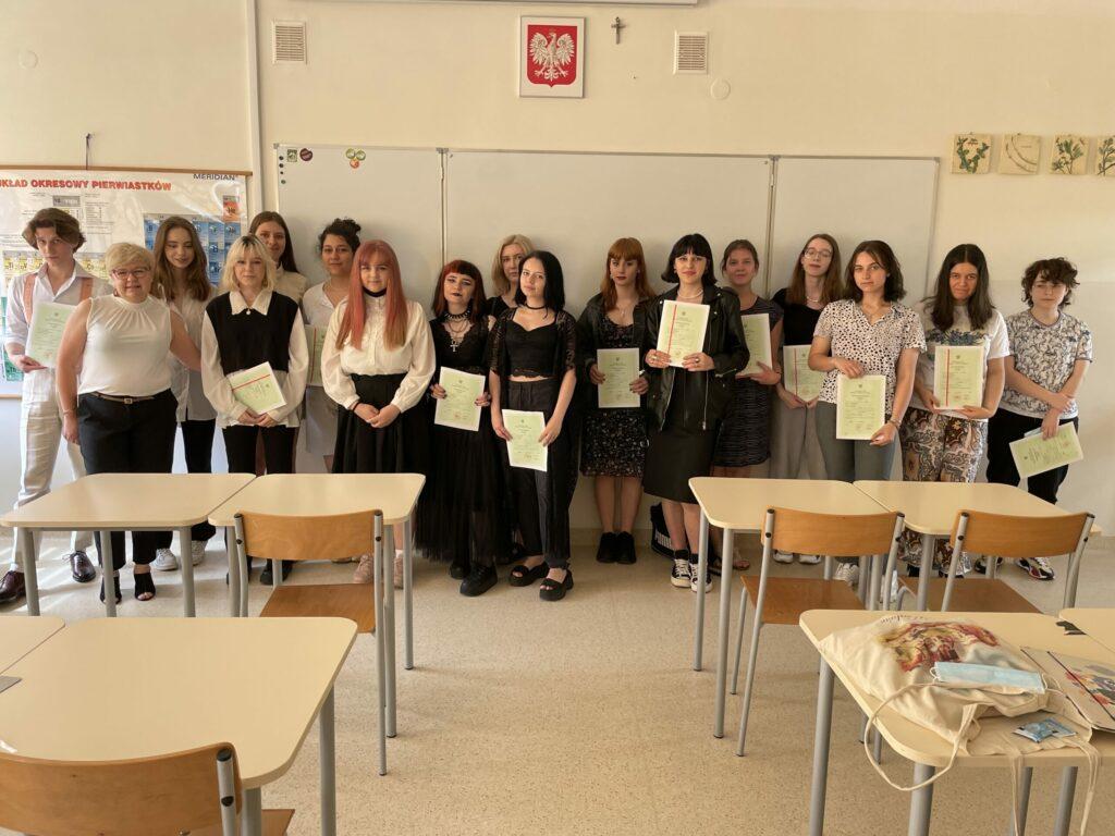 Klasa IIA zwychowawczynią Panią Barbarą Kołodziej-Bartuzel