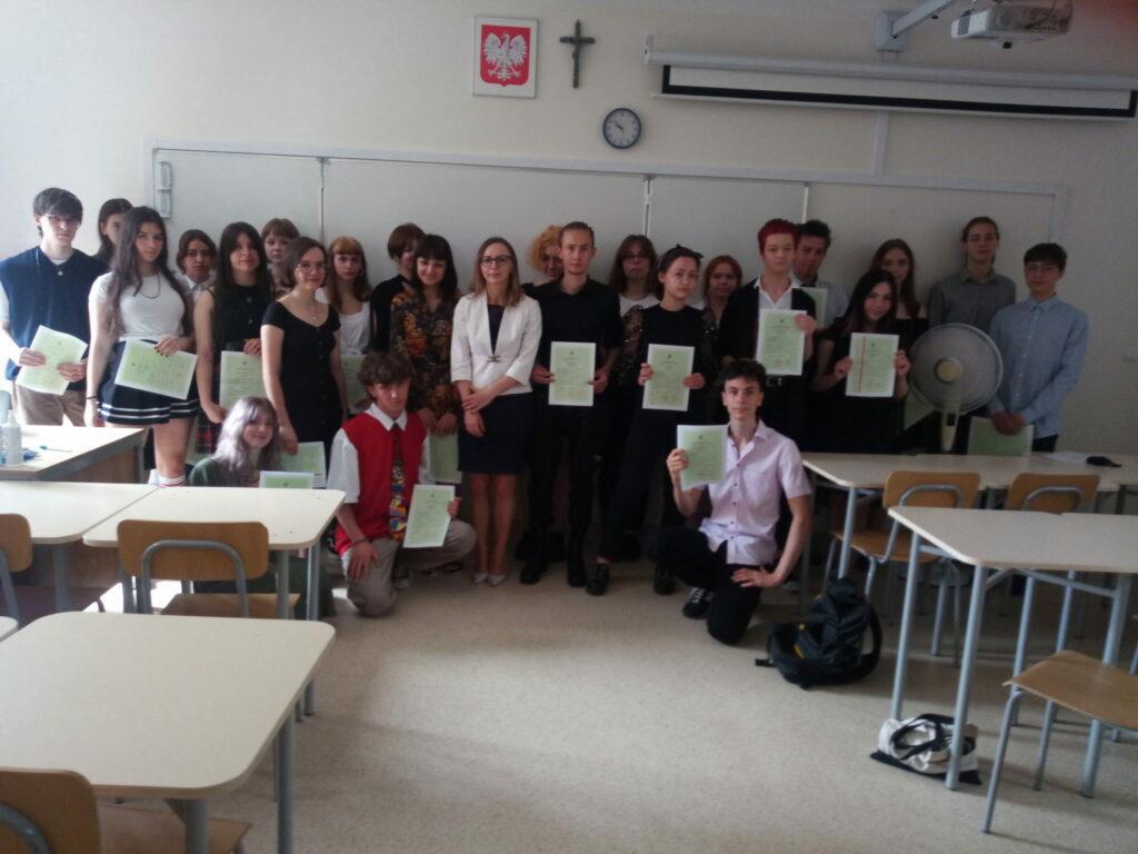 Klasa IIB zwychowawczynią Panią Beatą Rogalą